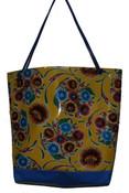 Beach Bag  Oil cloth with a double base 43cm L x 41cm H x 17cm D