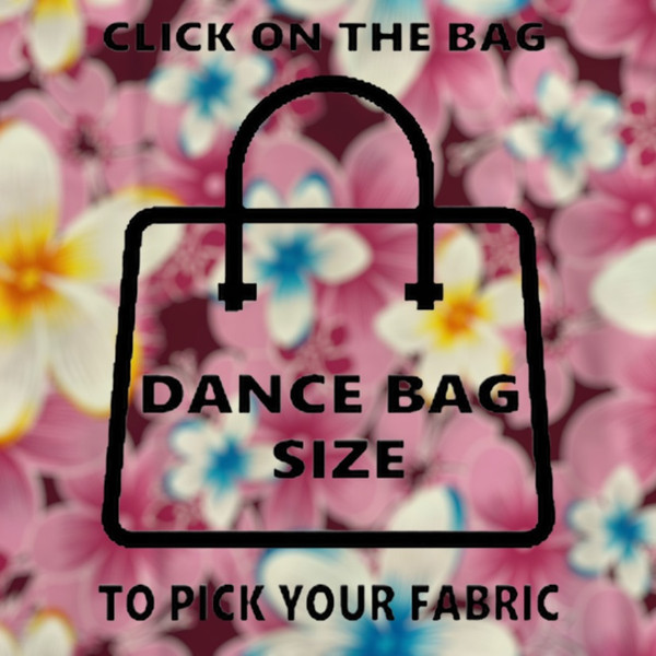 Dance Bag Fabric/PVC  35cm L X 22cm W X 25cm H