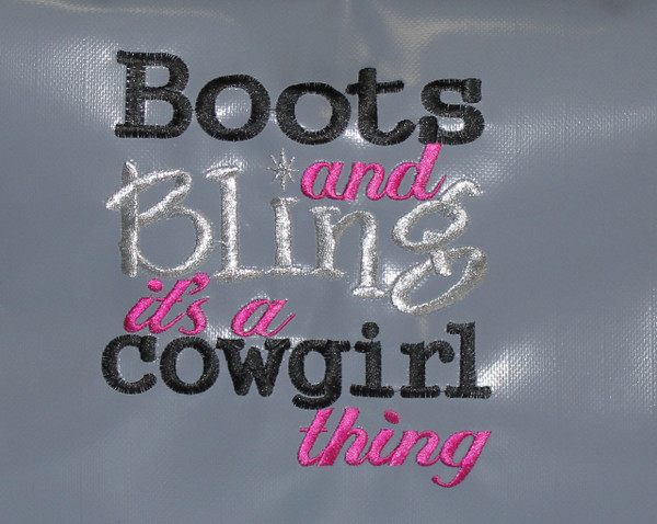 EMB Boots and Bling Big Bags