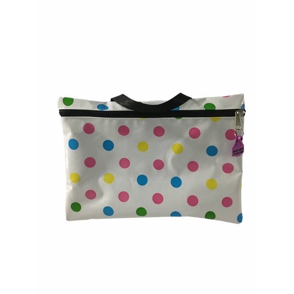 Library carry bag  oilcloth finish 47cm L x 33cm H