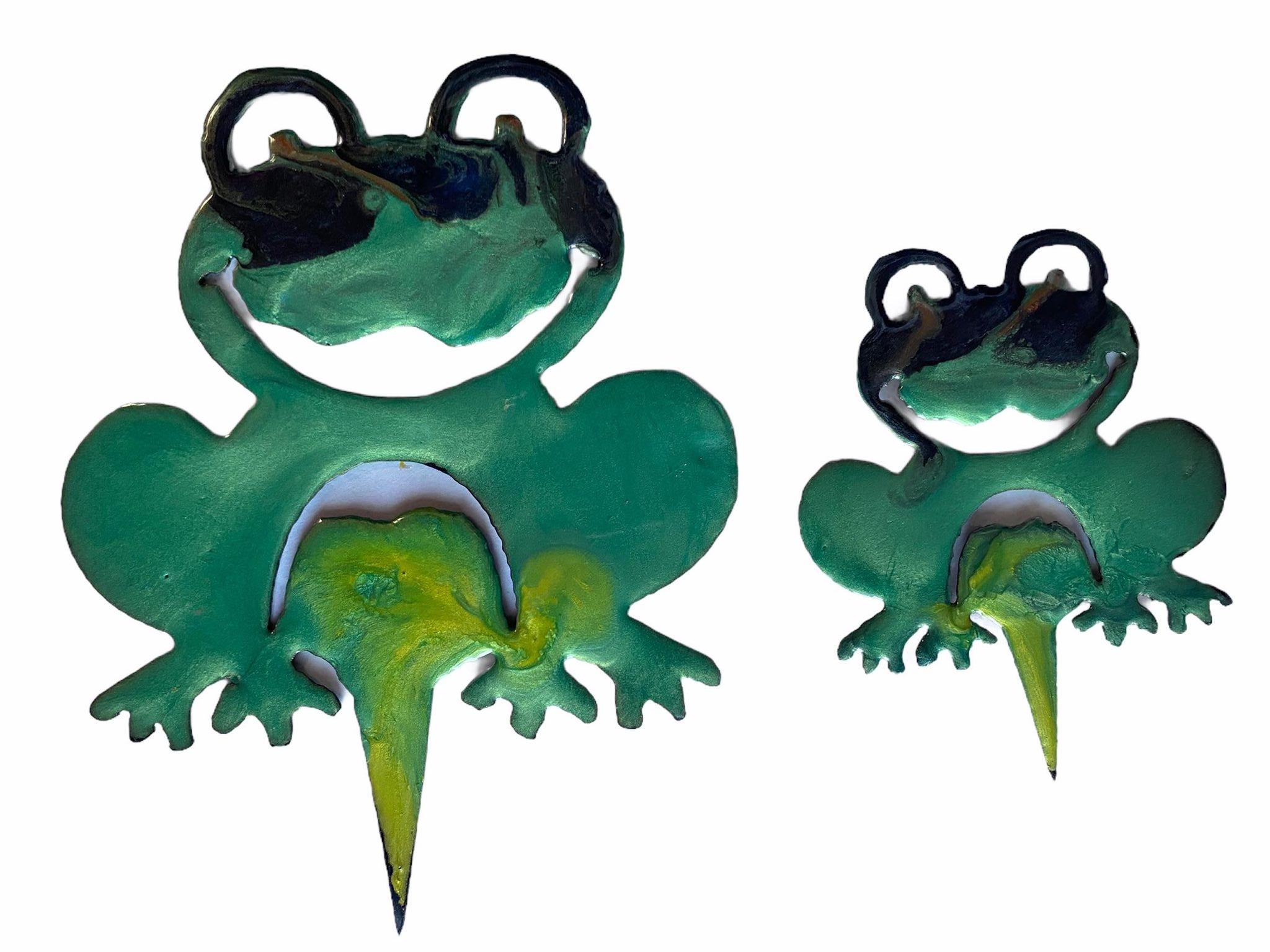 Plasma resin Garden Art Frogs