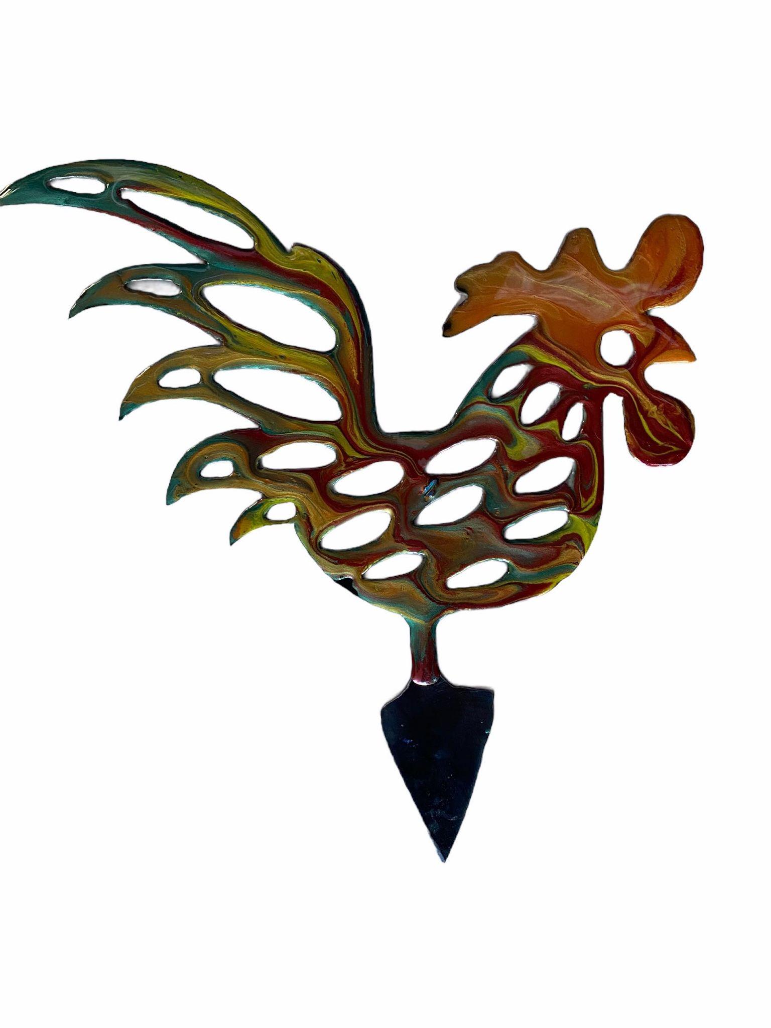 Plasma Resin Garden Art Rooster