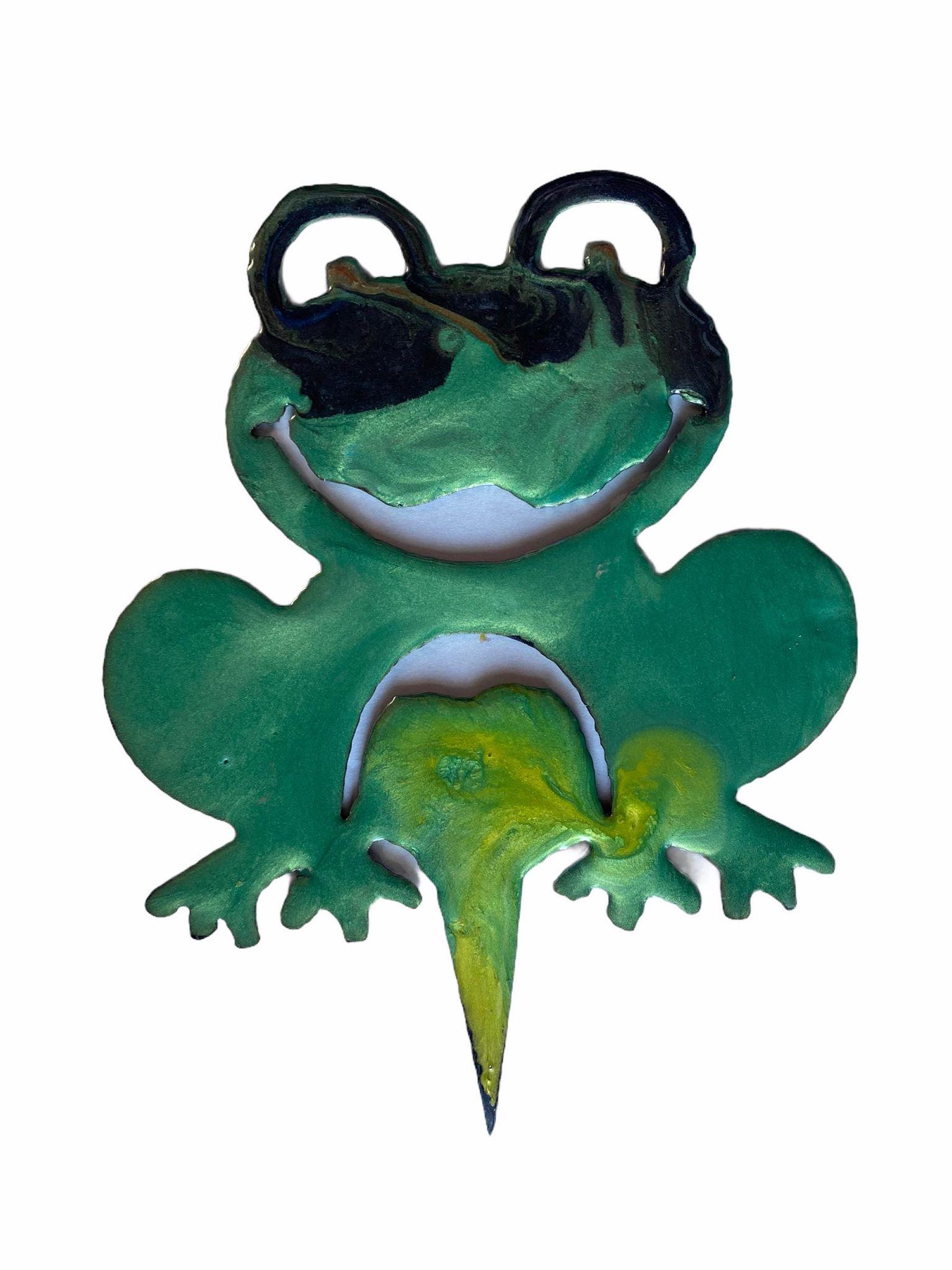 Plasma Resin Garden Art Frog