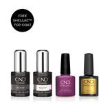 CND PLEXIGEL Builder and Shellac System Kit FREE Top Coat (Limited Edition)