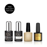 CND PLEXIGEL Shaper and Shellac System with FREE Top Coat (Limited Edition)