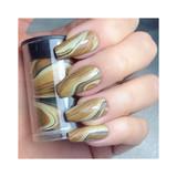 Lecente Mahogany Swirl Nail Art Foil