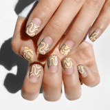 CND Shellac Change Sparker Nail Art