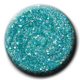 Light Elegance -Dreaming in Colour Summer Collection - Shade De-Ja-Blue P+ Glitter Gel Polish Swatch