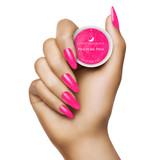 Light Elegance Pinch Me Pink Glitter Hard Gel Hand Swatch