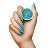 Light Elegance - De-Ja-Blue Glitter Hard Gel Hand Swatch
