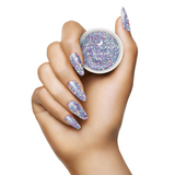 Light Elegance - In My Happy Place Glitter Hard Gel hand Swatch