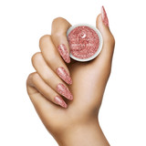 Light Elegance - Restful Rose Glitter Hard Gel hand Swatch
