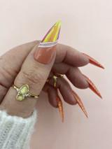Lecente Orange Opalescent Shimmer Film Nail Art