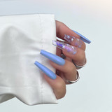 Lecente Blue Faith Pearlescent Powder Nail Art