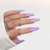 Lecente Lavender Love Iridescent Flakes Nail Art