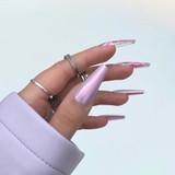 Lecente Miami Pink Pearlescent Powder Nail Art