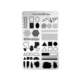 :YOURS Floral Frame Double Sided Stamping Plate 1
