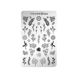 :YOURS Floral Frame Double Sided Stamping Plate  2