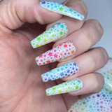 Lecente Rainbow Star Foil Summer 2021 Collection Nail Art