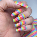 Lecente Rainbow Mermaid Foil Summer 2021 Collection Swatch