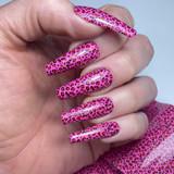 Lecente Summer2021 Foil Collection Pink Leopard