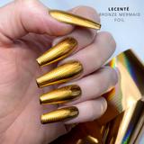 Lecente Bronze Mermaid Foil Nail Art