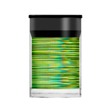 Lecente Lime Green Holographic Lines Foil