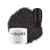 :YOURS Yolographic Effect Glitter Element Black Glitzhead