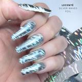Lecente Summer 2021 Foil Collection Silver Waves Foil