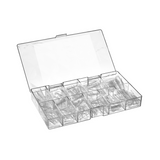 Lecenté Clear Tapered Nail Tips 550pcs
