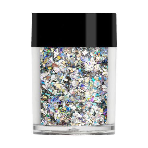 Silver Holographic Crushed Ice Glitter