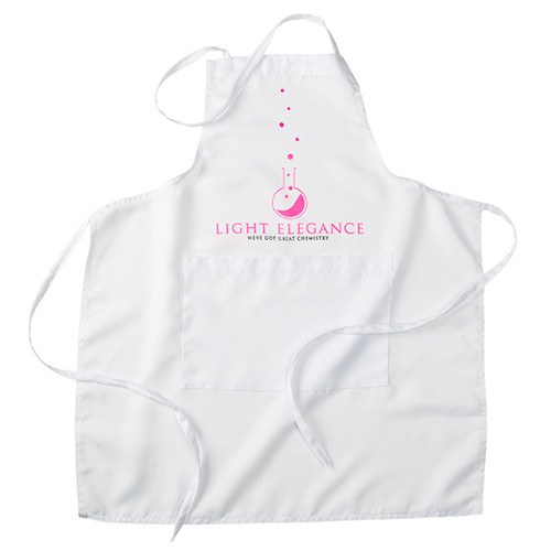 Light Elegance Apron, White