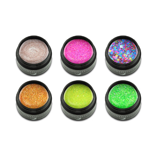 LE Summer Squeeze Glitter Gel Collection 6 x 17ml