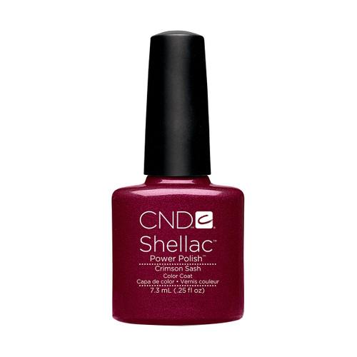 CND Shellac Crimson Sash