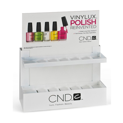 Vinylux Small White Retail Rack