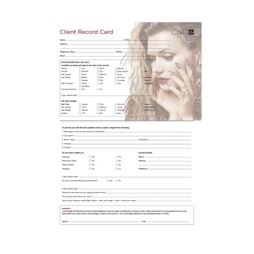 CND Client Record Cards (25 pack)