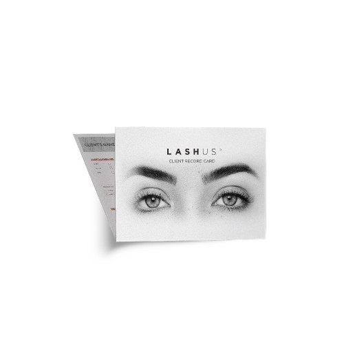 LASHUS Extensions Client Record Cards (25 pack)