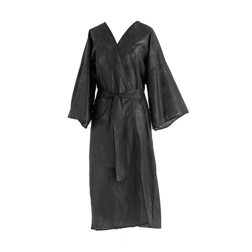 Disposable Robe, Black, one size