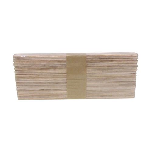 Disposable Narrow Wooden Waxing Spatulas, 100 pack