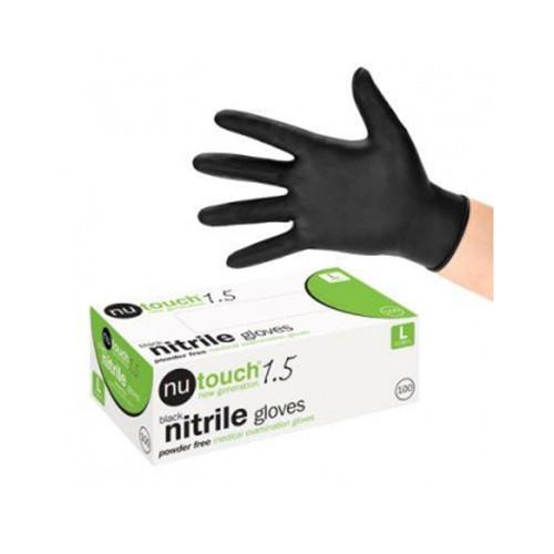 Nitrile Gloves Black (Medium) box of 100