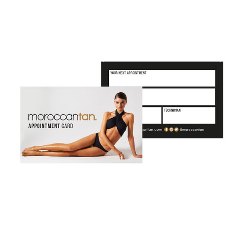 MoroccanTan Appointment Cards