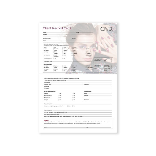 Shellac Client Record Card 25 pack