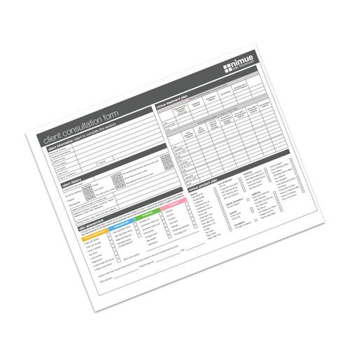 Nimue Consultation Cards (booklet x 50 )