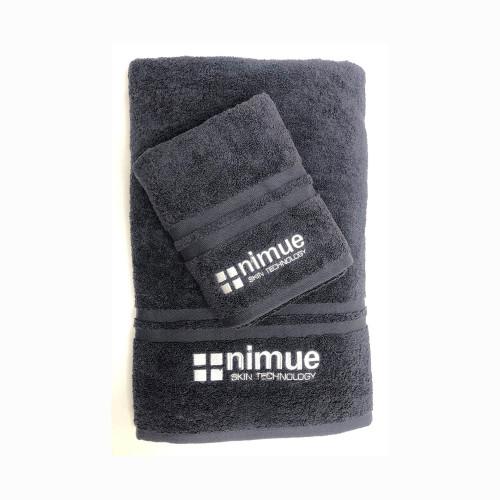Grey Nimue Branded Towel Medium