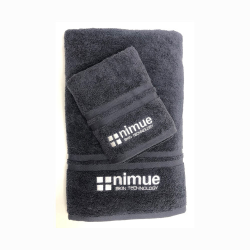Grey Nimue Branded Towel Medium