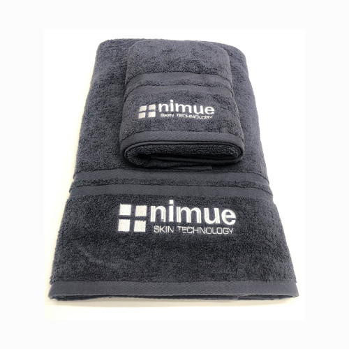 Grey Nimue Branded Towel Large