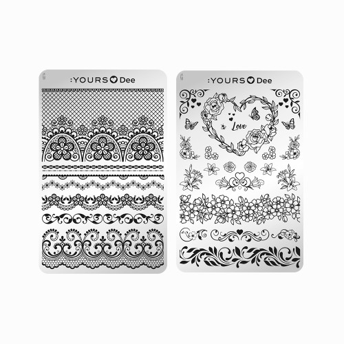 YOURS Lovely Flowers Stamping Plate