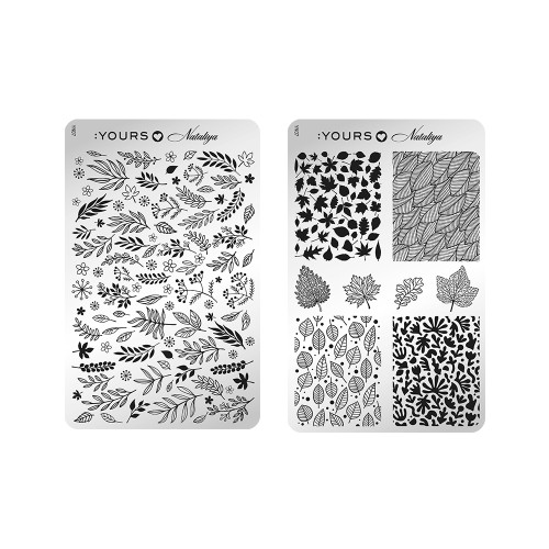 :YOURS Foliage Double Sided Stamping Plate