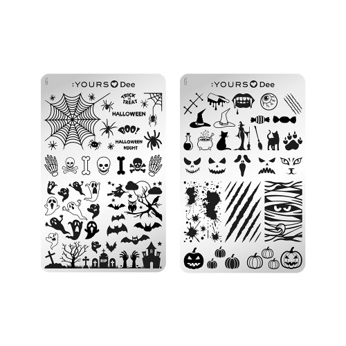 :YOURS Halloween Night Double Sided Stamping Plate
