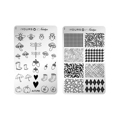 :YOURS Graphic Autumn Double Sided Stamping Plate